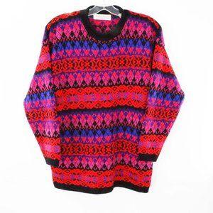 Karen Scott Multicolor Pullover Ski Sweater